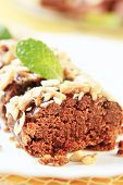 image of lenten  - Lenten almond cake sprinkled with chopped nuts - JPG