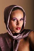 foto of pouty lips  - Beautiful glamourous woman model portrait - JPG