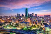 Dallas, Texas, USA downtown skyline. poster