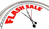 Flash Sale Clock Limited Time Special Offer Deal 3d Illustration poster