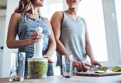 Sporty Couple With Healthy Food poster