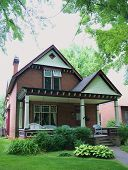 picture of residential home  - vintage home displaying traditional architecture of a victorian - JPG