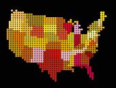 foto of usa map  - Vector stylization of USA map - JPG