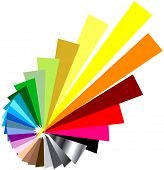 stock photo of color wheel  - exploding vector color wheel - JPG