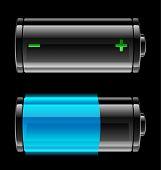 Постер, плакат: Векторный icon с уровень заряда батареи