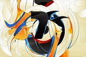 Постер, плакат: Абстрактные формы элементы дизайна граффити