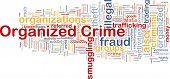 image of loan-shark  - Background concept wordcloud illustration of organized crime - JPG