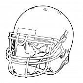 picture of ncaa  - American football helmet  - JPG