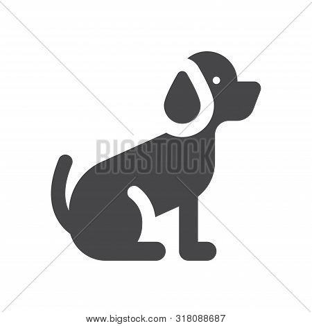 poster of Dog Icon Isolated On White Background. Dog Icon In Trendy Design Style For Web Site And Mobile App.