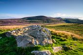 Lordenshaws Prehistoric Rock Mirrors Simonside Hills Ridge, The Hillfort Is Located Near Rothbury In poster