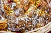 Glass Christmas Decorations. Christmas Tree Decorations And Decorations In The Design. poster