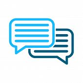 Speech Bubbles Vector Icon Sign. Dialogue Vector Icon. Dialog Vector Icon Sign. Chat Vector Icons Si poster