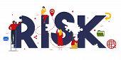 Risk Management Concept Of Control Danger Problem In Investment Or Financial Management Business. poster