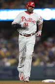 LOS ANGELES - 31 de agosto: Phillies 1B (#6) Ryan Howard durante o jogo de Phillies vs Dodgers em 31 de agosto 20