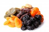 foto of papaya fruit  - Dried fruits isolated on white - JPG