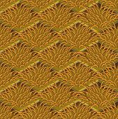 Grass And Soil Tile With Layers Isometric Vector Pattern. Dry Autumn Withered Grass Pattern. Seasona poster