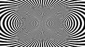 Hypnotic Psychedelic Illusion Background With Black Stripes. poster