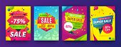 Banner Sale Poster. Promotion Flyer, Discount Voucher Template Special Offer Market Brochure. Vector poster