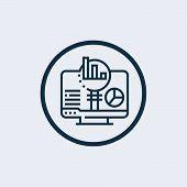 Data Analysis Icon In Trendy Design Style. Data Analysis Icon Isolated On White Background. Data Ana poster