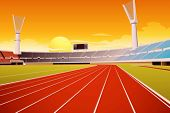 picture of grandstand  - Sporting stadium illustration in detail - JPG