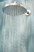 image of hot water  - Head shower while running water - JPG
