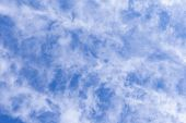 The Vast Blue Sky, Clouds Sky. Blue Sky Background With Tiny Clouds. Sky Panorama. Beautiful Sky. Sk poster