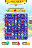 Game Ui Candy Match 3 Set Game Icons, Buttons, And Elements Interface Game Design Resource Bar And I poster
