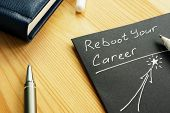 Reboot Your Career Sign In The Note. Skills For Restart. poster