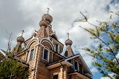 Christian Temple In Russia. The Church Of The Christian Church Is A Monument Of Russian Spiritual An poster