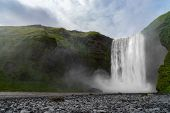 Skogafoss Waterfall, The Biggest Waterfall In Skogar. Iceland poster