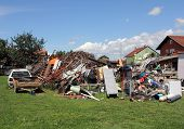 stock photo of scrap-iron  - A big pile of all the different kinds of scrap iron ready for recycling - JPG