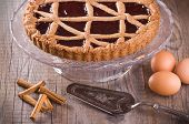 picture of torte  - Image with a Fruit Jam Tart  - JPG