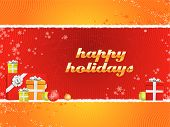 image of happy holidays  - A fully scalable vector illustration of text of Happy Holidays with gifts - JPG