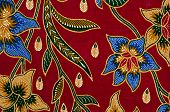 stock photo of batik  - Batik and Pattern Textile in Asia like Malaysia - JPG