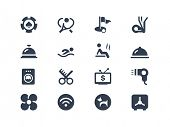 stock photo of elliptical  - Hotel services icons - JPG