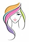stock photo of face painting  - Vector illustration of Beautiful woman eps 10 - JPG