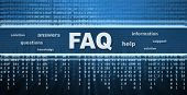 stock photo of faq  - FAQ conceptual design - JPG