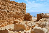 image of masada  - Shattered fragment of ancient ruins - JPG