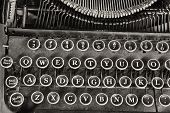 picture of qwerty  - An Antique Typewriter Showing Traditional QWERTY Keys IV - JPG
