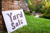 stock photo of yard sale  - Yard sale sign - JPG