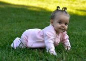 foto of niece  - i took this picture of my niece at the park crawling around - JPG