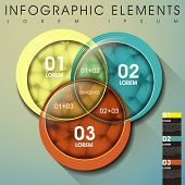 pic of intersection  - modern vector abstract intersection circle infographic elements - JPG
