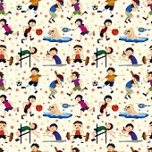stock photo of snooker  - sport player seamless pattern EPS vector and cool illustration file - JPG
