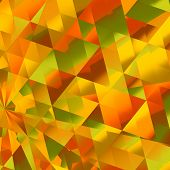 image of diffraction  - Abstract Warm Yellow Diamond Reflections Background Pattern - JPG