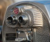 stock photo of empire state building  - typical Binocular details On Empire State Building - JPG