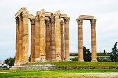 stock photo of olympian  - Temple of Olympian Zeus in Athens - JPG