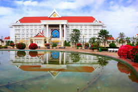 image of prime-minister  - Prime Minister Office building Vientiane Laos Southeast Asia - JPG