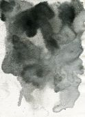 stock photo of saddening  - Black watercolor with soft effect on wet paper - JPG