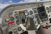 foto of cessna  - Detailed Cockpit of a Cessna Airplane - JPG