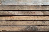 stock photo of driftwood fence  - Stacked old boards background for your design - JPG